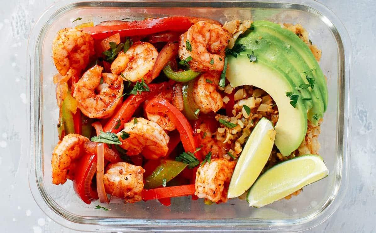 Low-carb Shrimp Fajita Meal-Prep Bowls