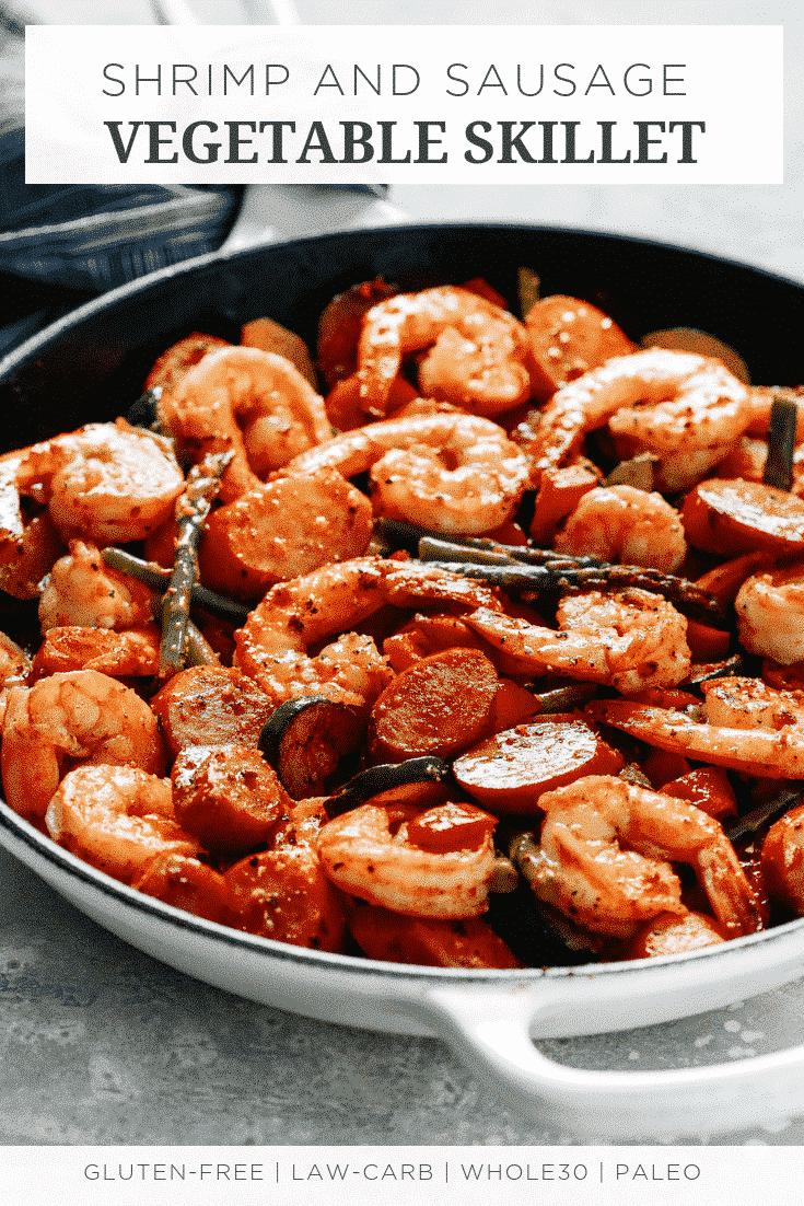 Shrimp and Sausage Vegetable Skillet (Meal-Prep)