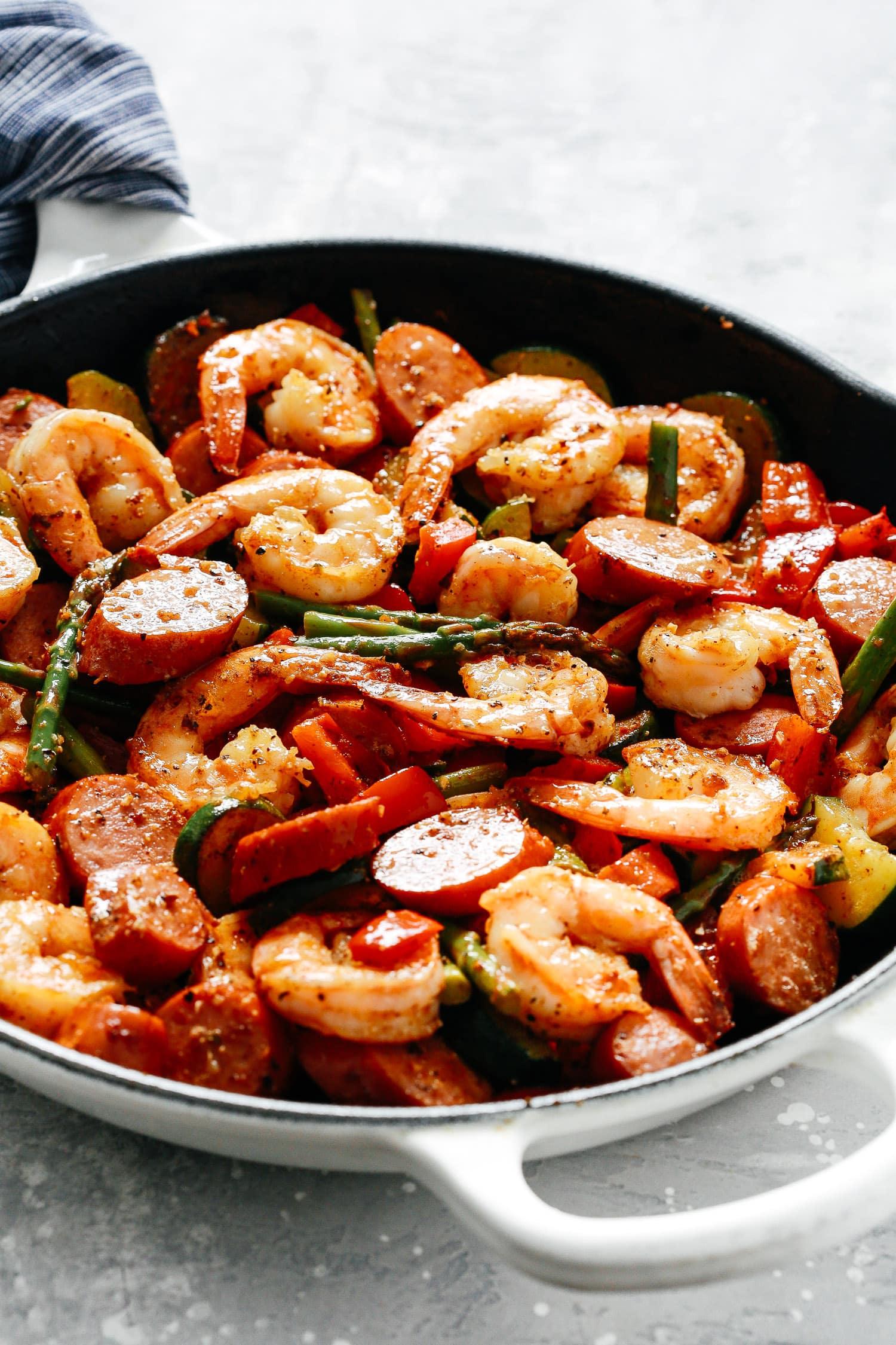 Cast Iron Skillet Shrimp and Sausage Recipe