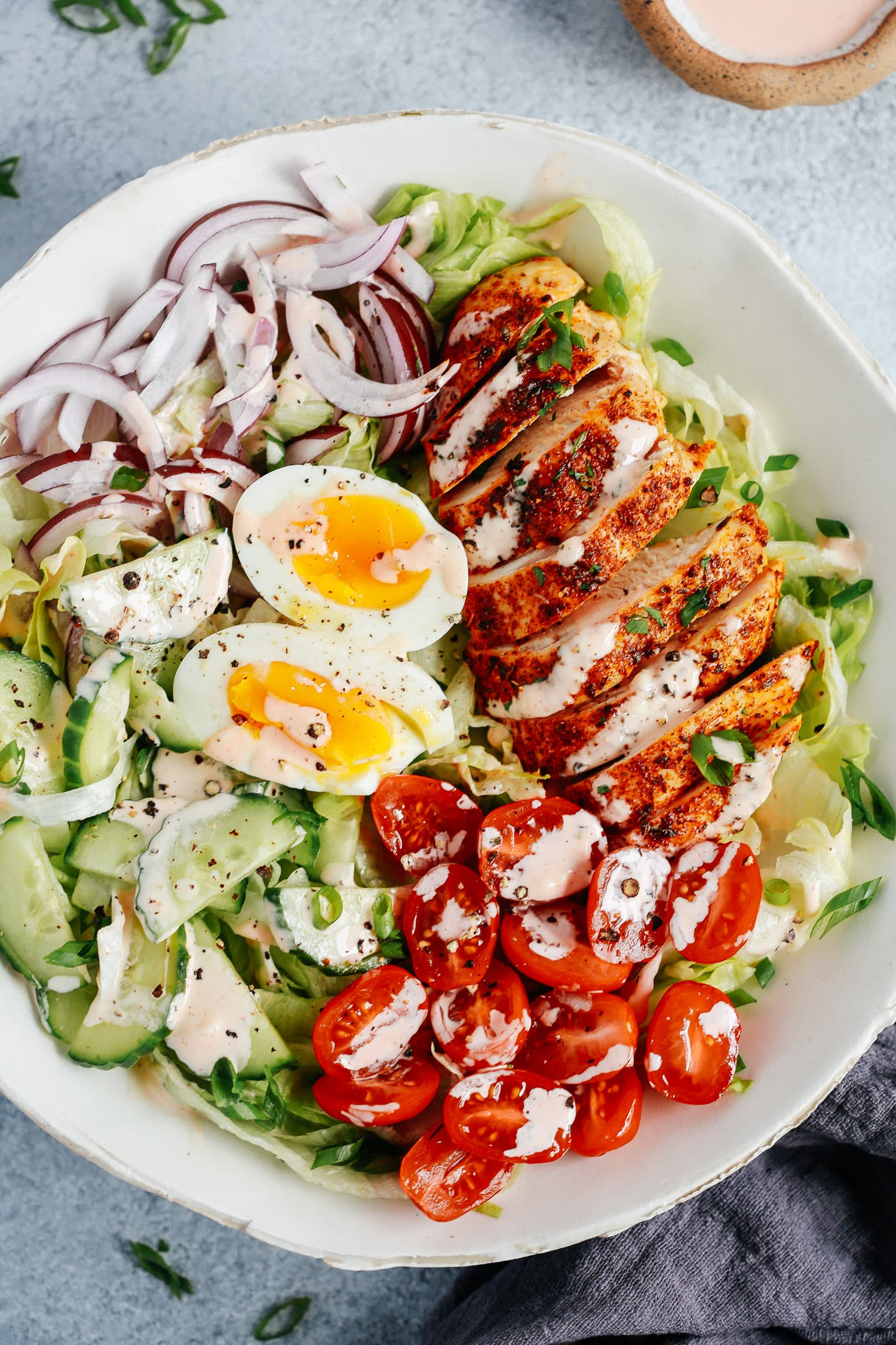 Chicken Salad with Spicy Mayo Dressing.
