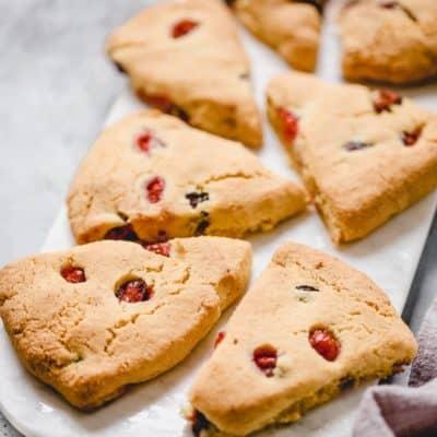 platter of cranberry-orange scones