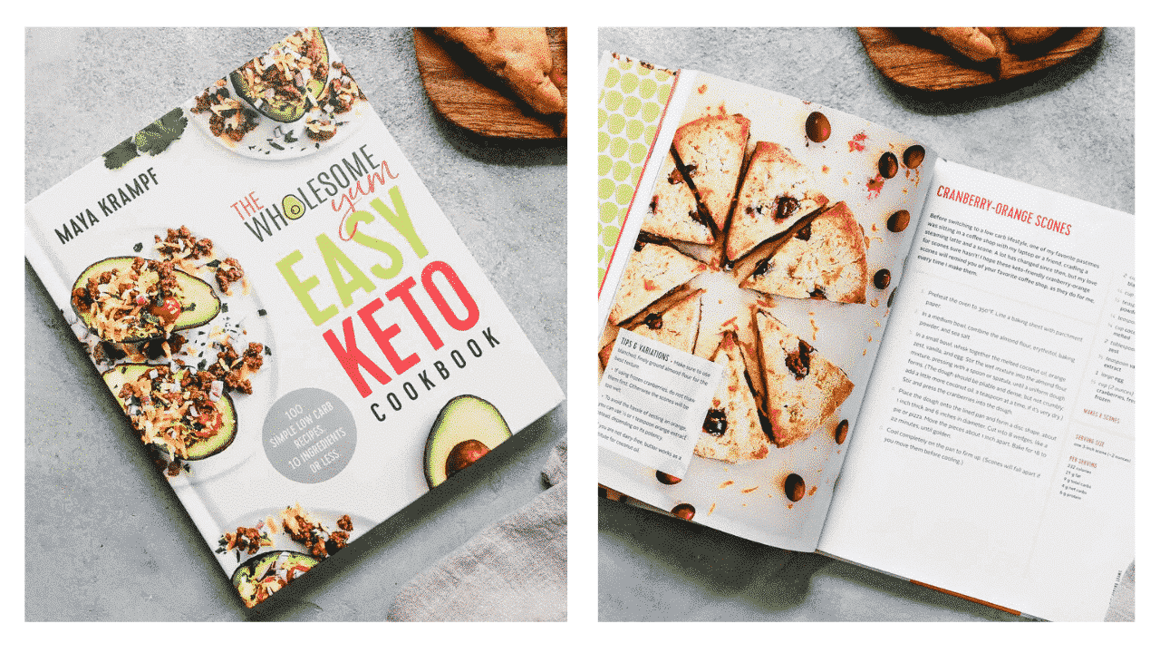 photo of The Wholesome Yum Easy Keto Cookbook, by Maya Krampf