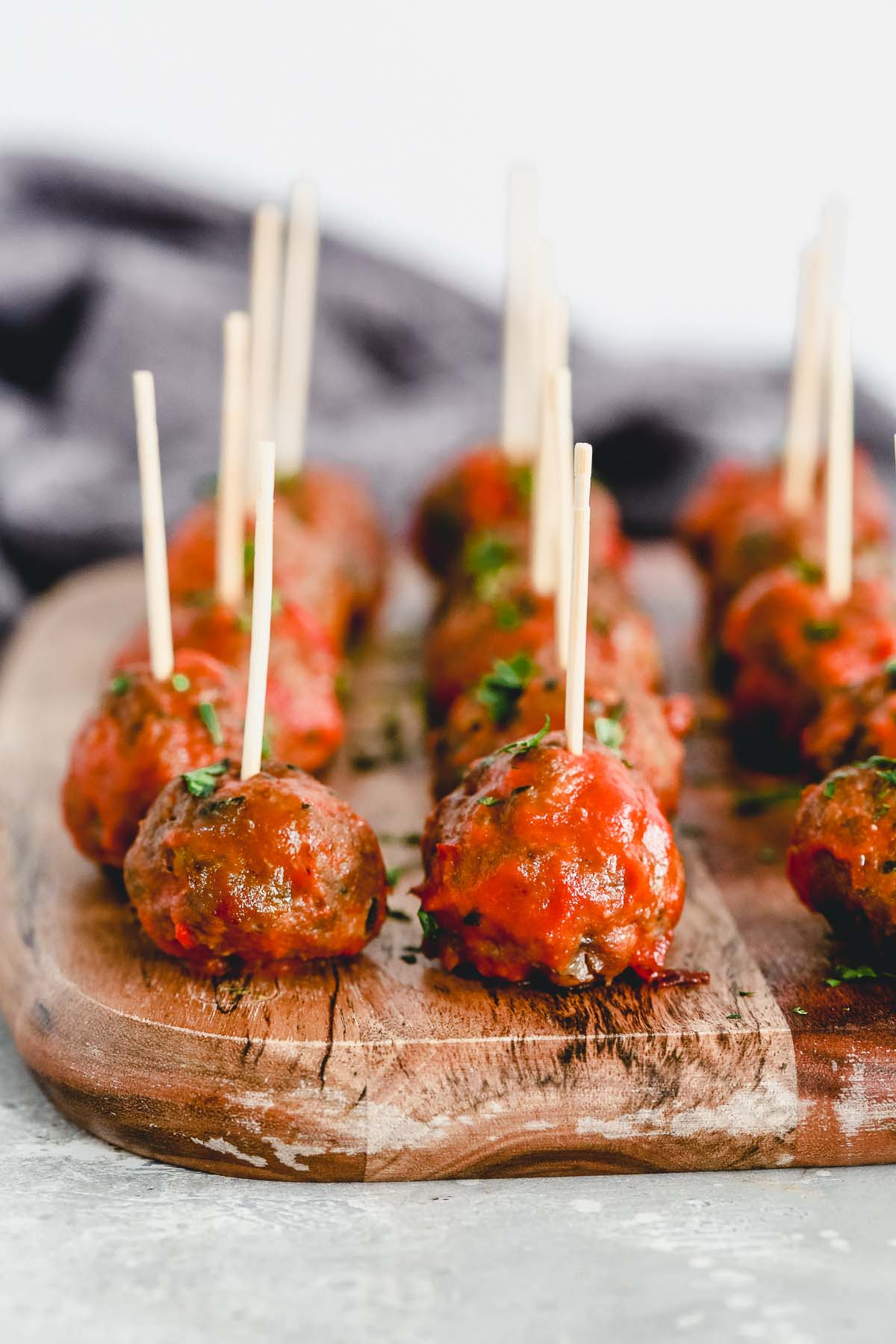 close up image of meatball appetizers