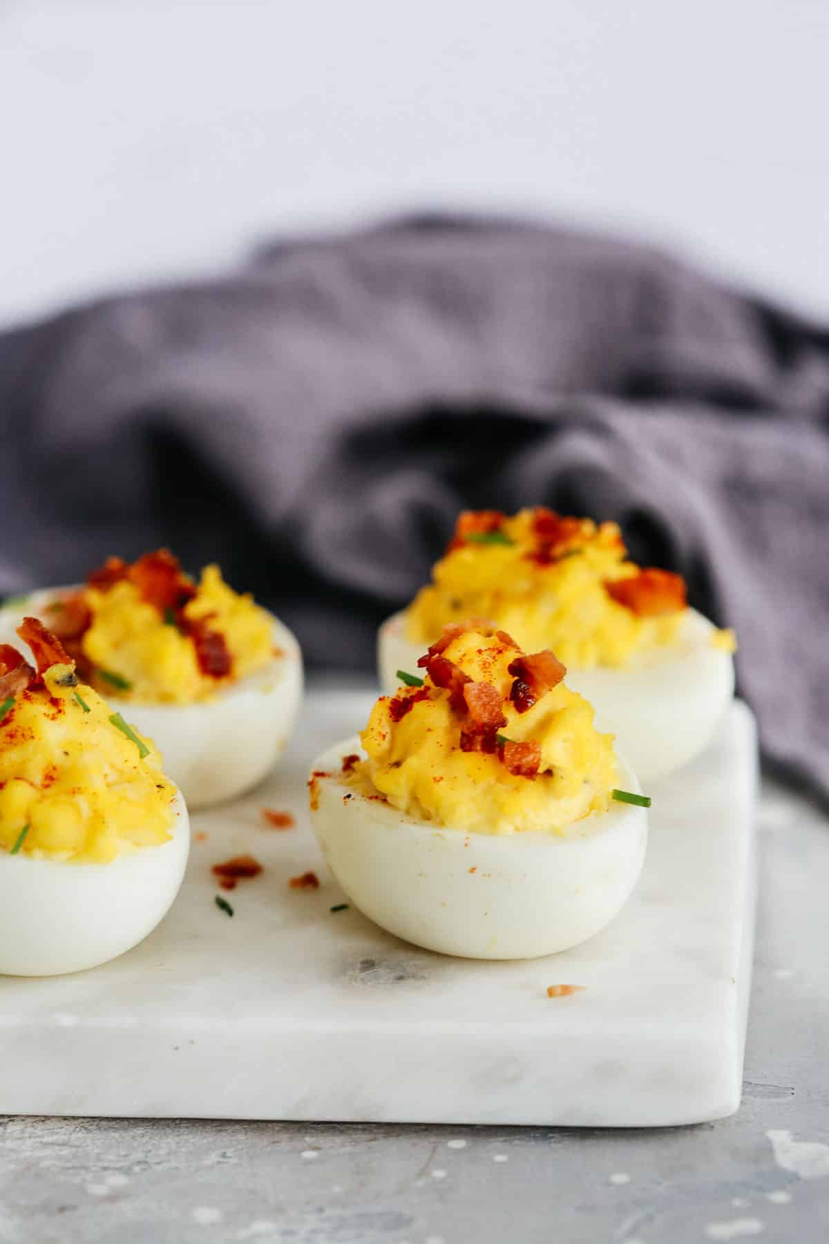 easy deviled eggs with bacon