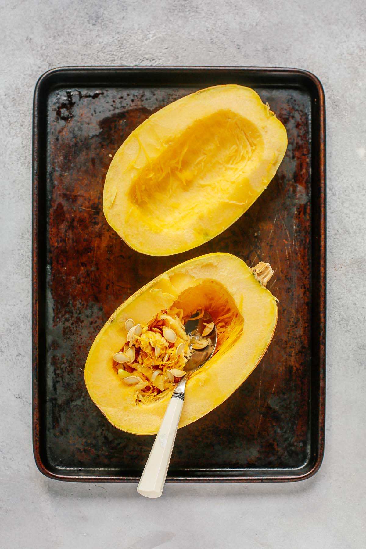 spaghetti squash without the seeds