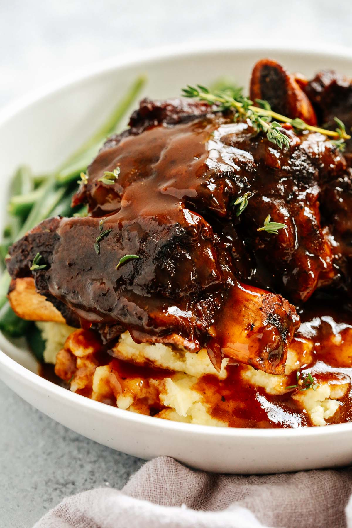 Short ribs with delicious sauce on top