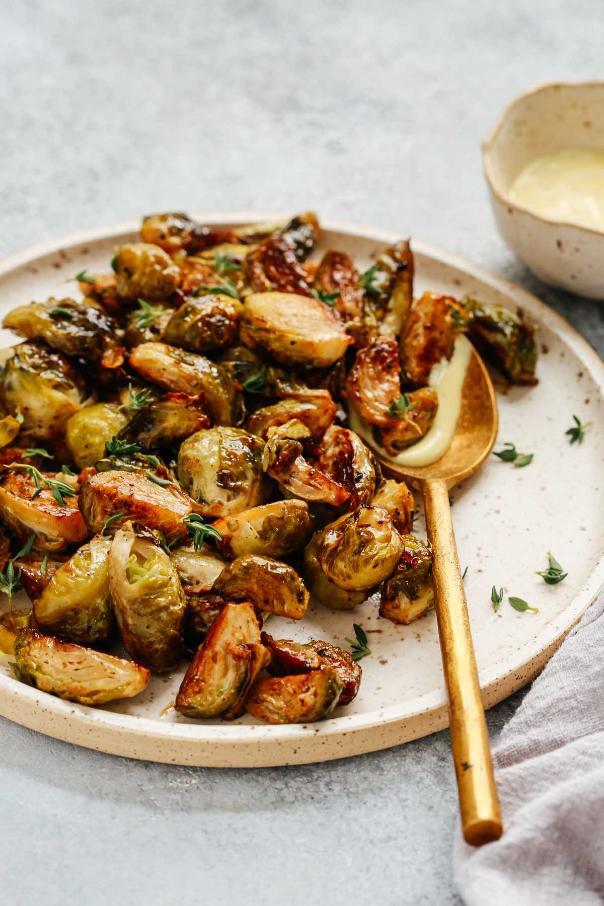 roasted Brussel sprout recipe photo
