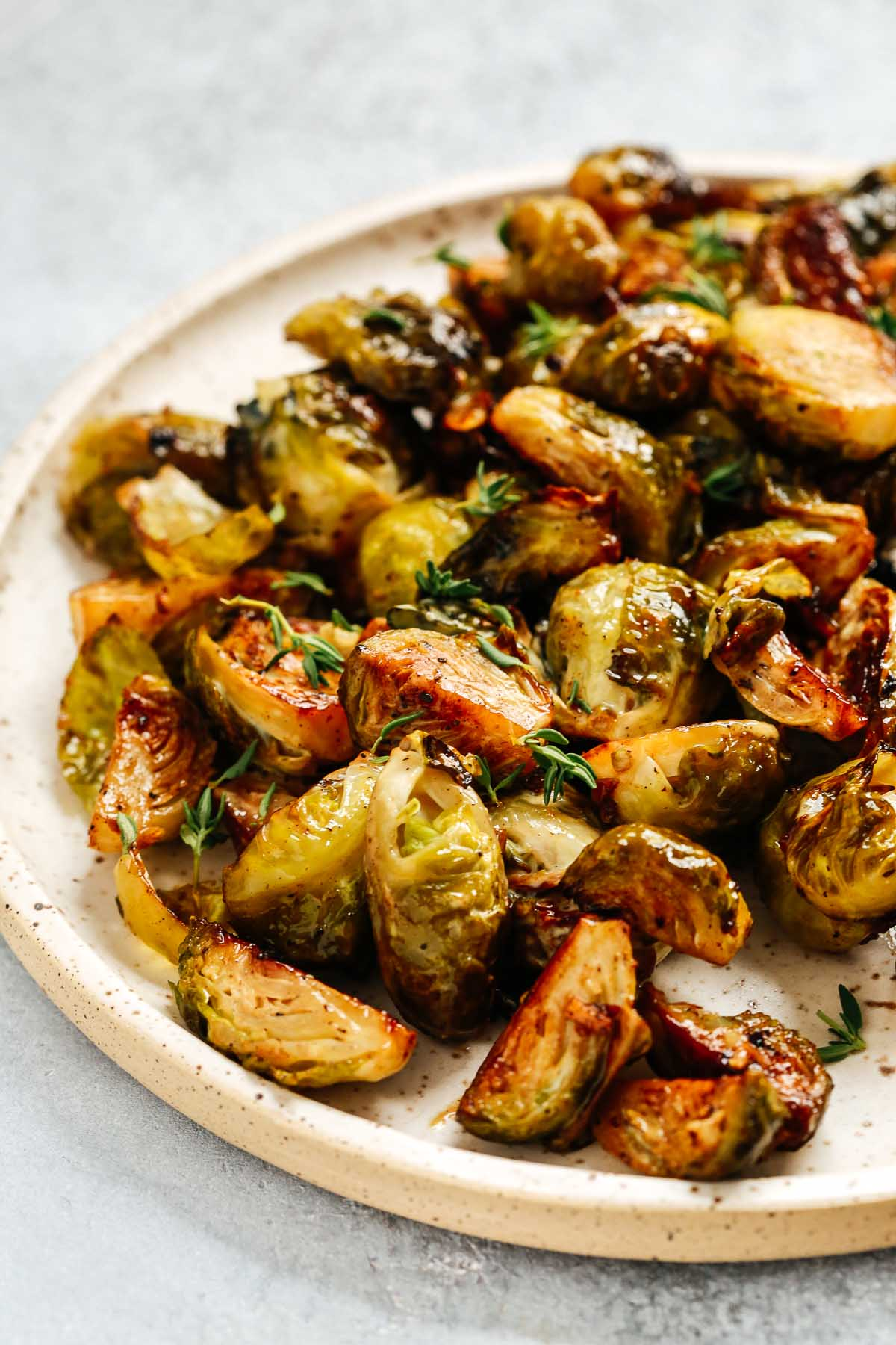 platter of golden roasted vegetables