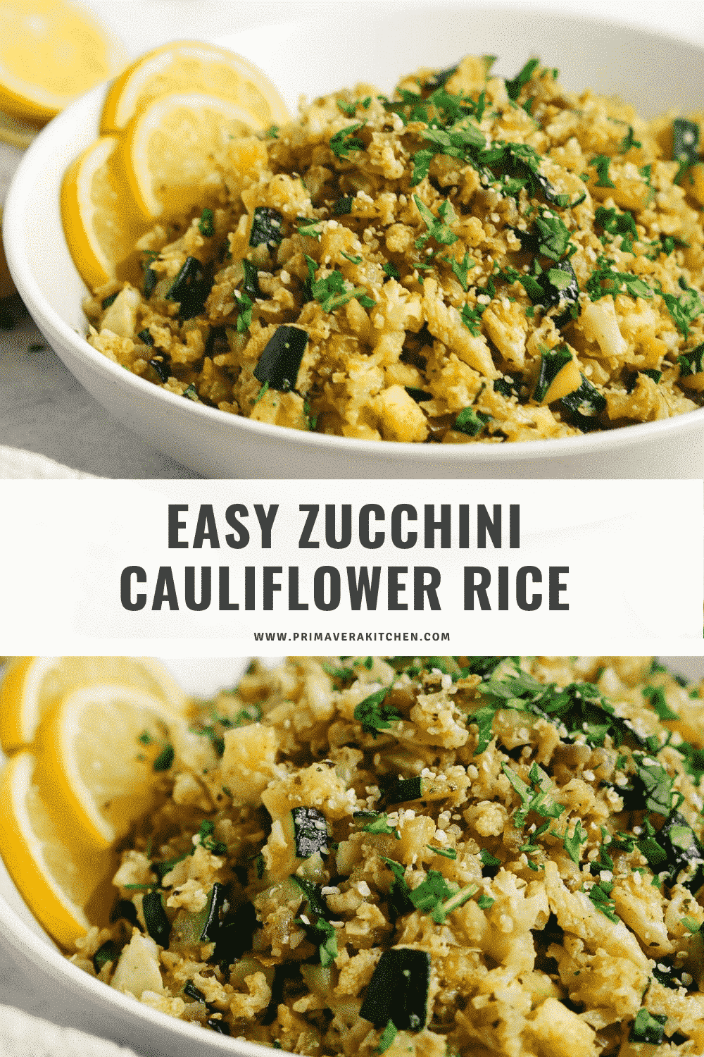 Easy Zucchini Cauliflower rice