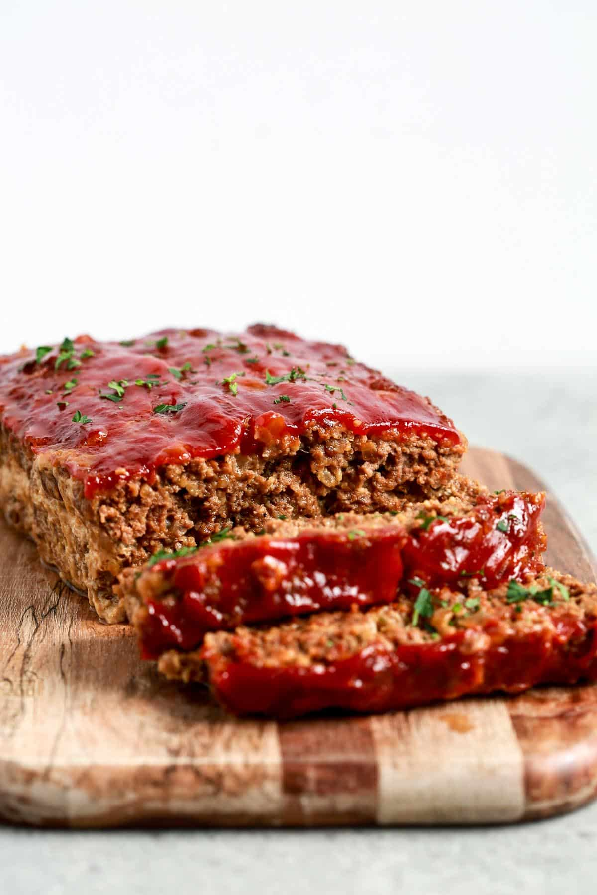 savory ground beef dinner - juicy, healthy meatloaf