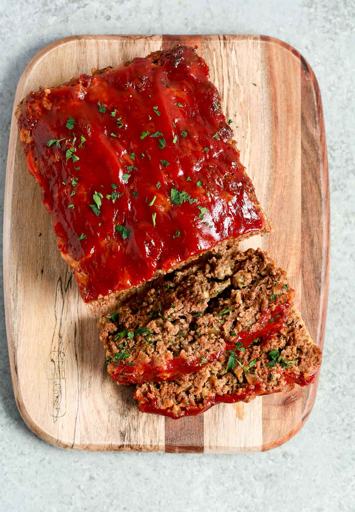 looking down on a lean ground beef meat loaf