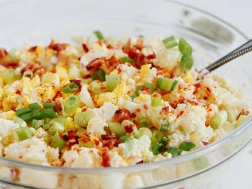 closeup of potato salad