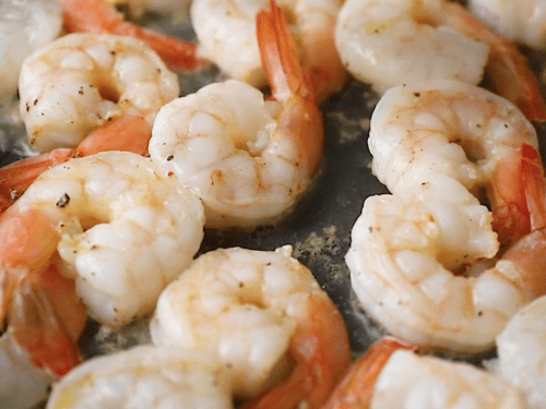 close up of cooked shrimp
