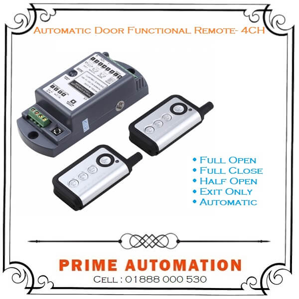 Automatic Door Functional Remote control 4 channel