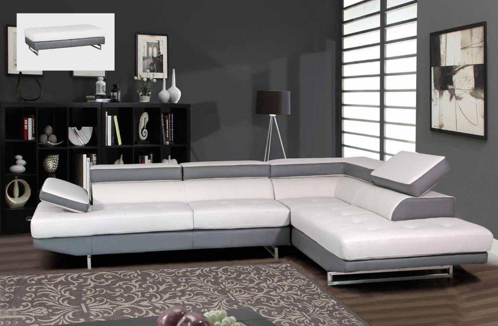 Grey And White Sofa