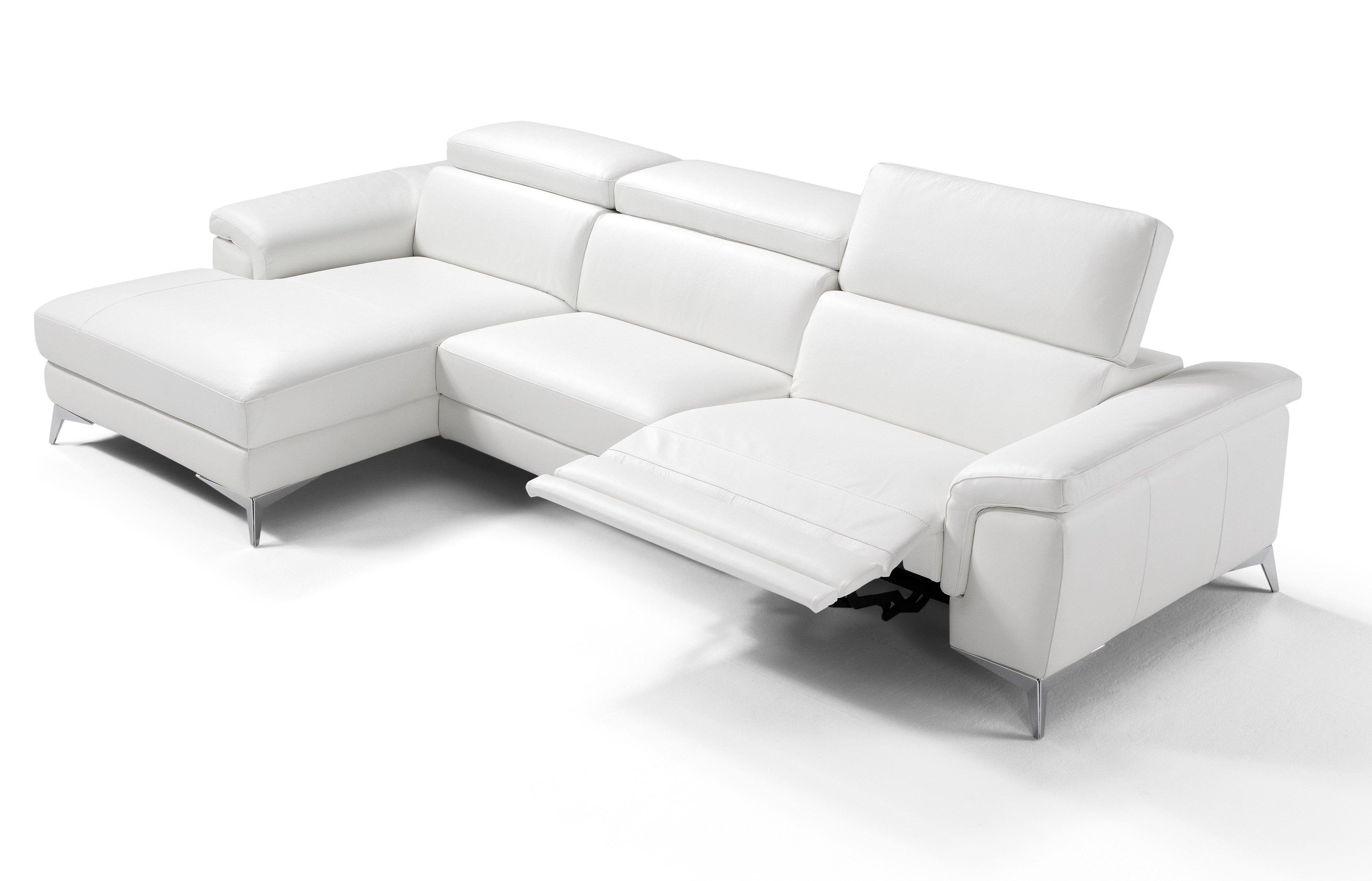 contemporary all real leather sectional