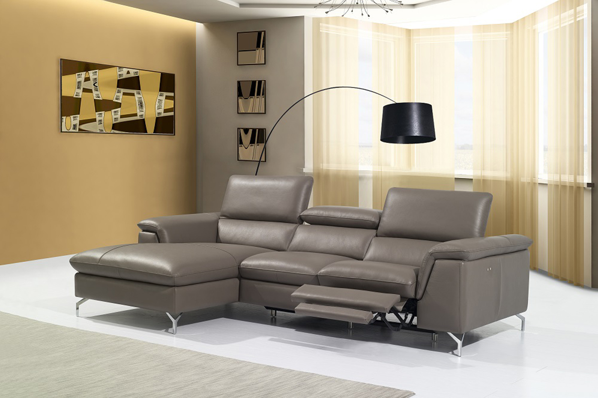 high end curved sectional sofa in leather