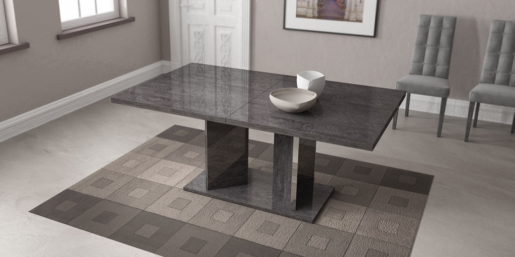 Grey Finished Dining Table Imported And Made In Italy