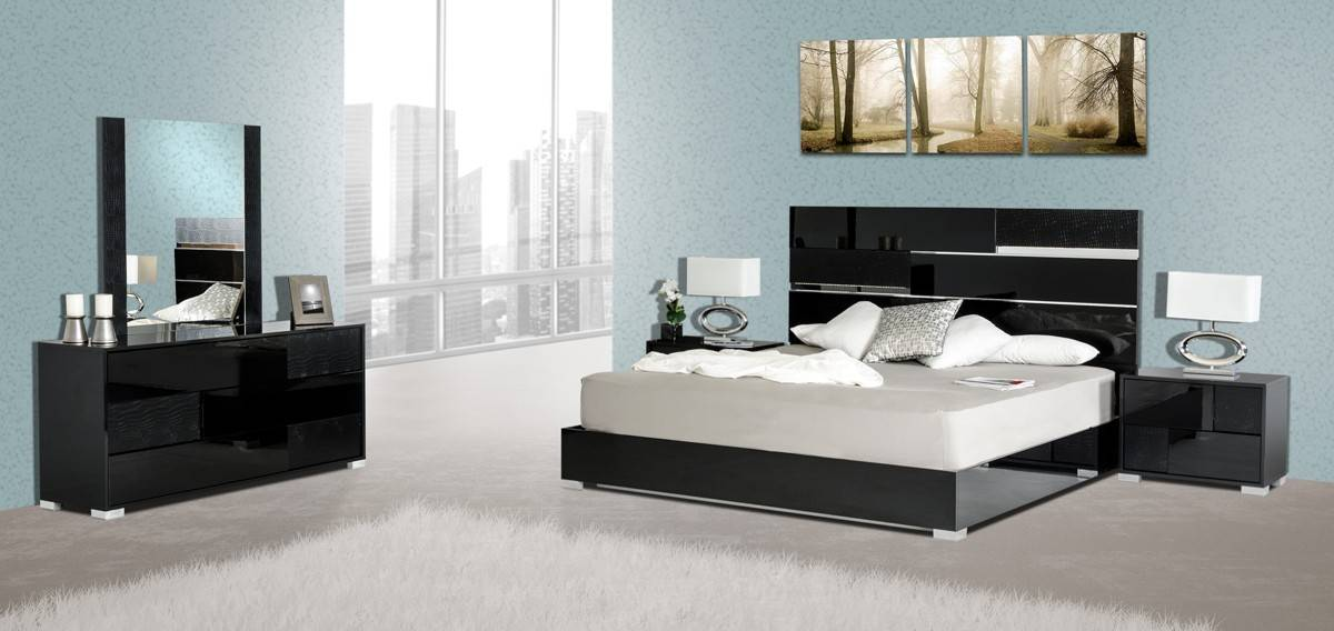 Made In Italy Quality Elite Modern Bedroom Set Escondido