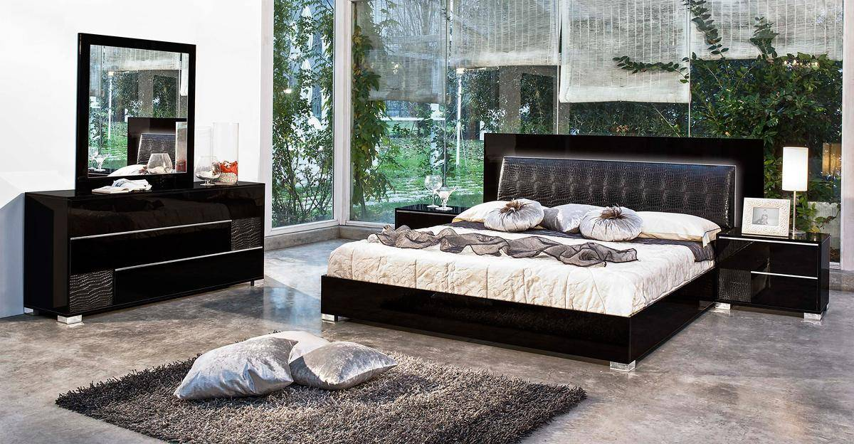 made in italy leather modern bedroom sets feat lighting