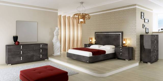 Made in Italy Wood Luxury Elite Bedroom Furniture with Extra