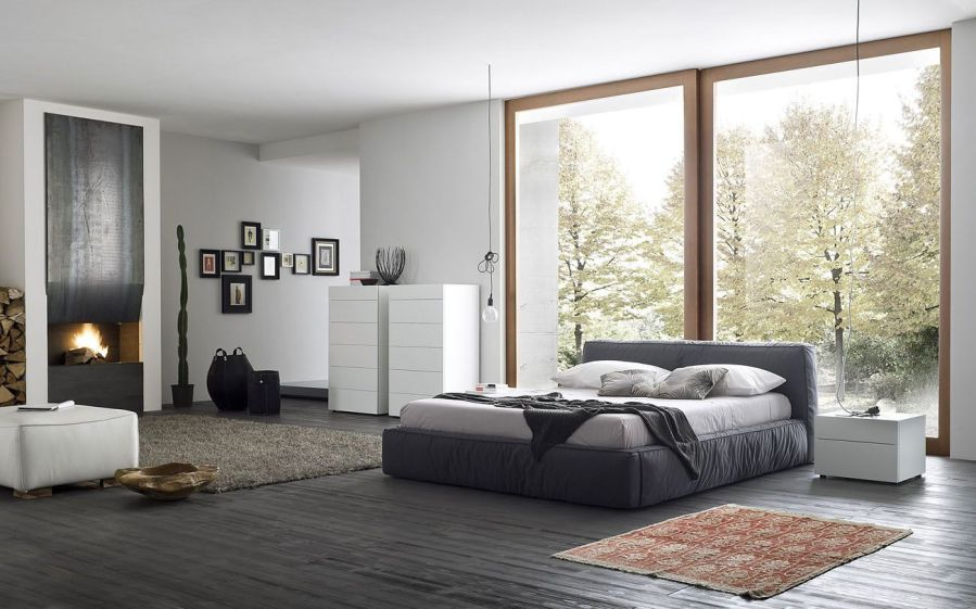 Made in Italy Wood and Nano Fabric Modern Contemporary Bedroom     Bedroom Sets Collection  Master Bedroom Furniture