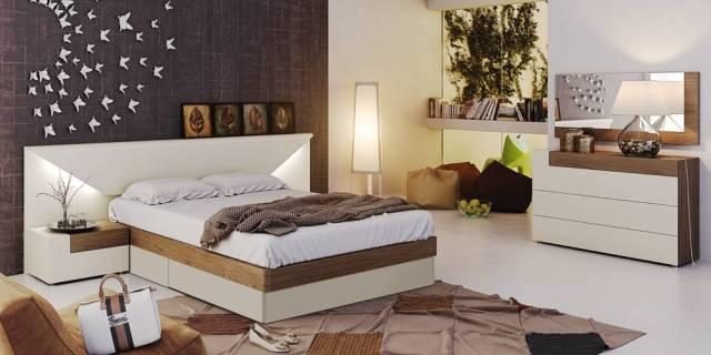 Fashionable Wood Designer Bedroom with Extra Storage ...