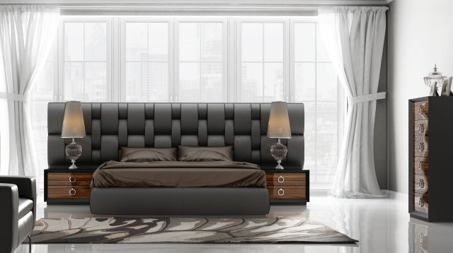 Contemporary Luxury Bedroom Set with Designer Long ...