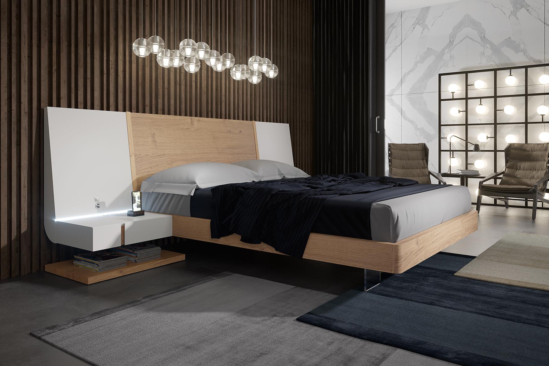 Extravagant Wood High End Platform Bed With Drawers Los Angeles California Garcia Sabate Air Ym05