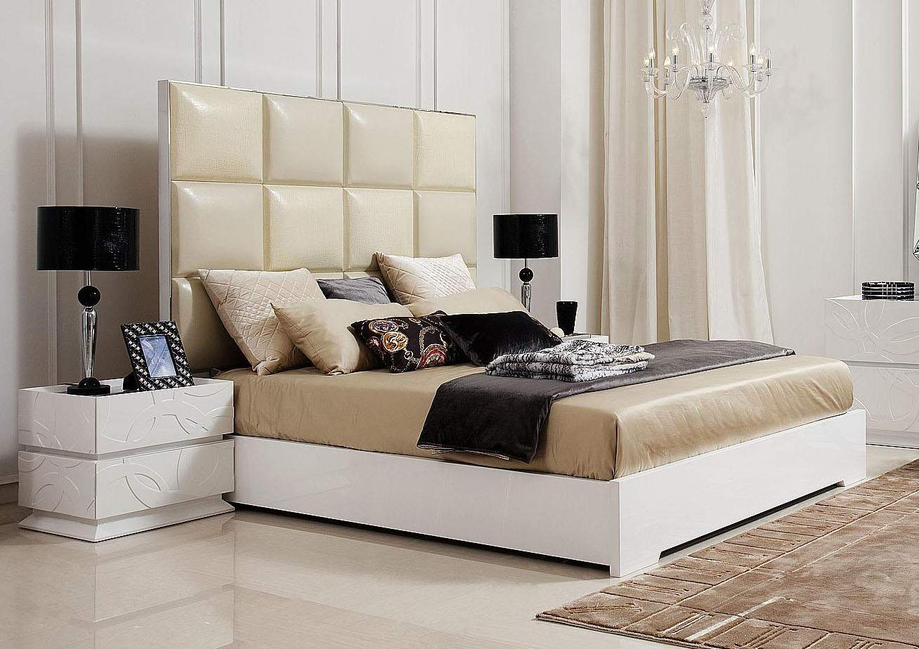 Made In Italy Leather Luxury Platform Bed Oakland California V8c004
