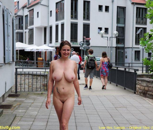 Anja Nude In Public