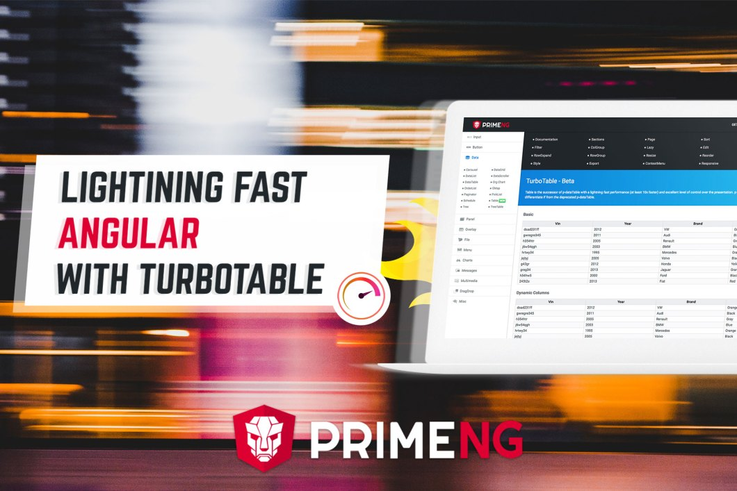 PrimeNG 5 2 0-RC1 Released with TurboTable | PrimeFaces