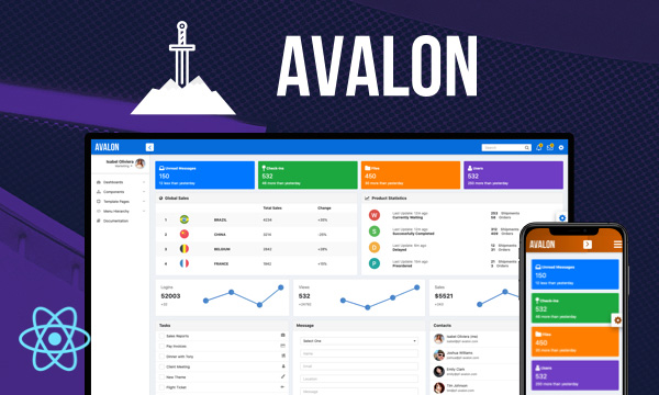 Avalon for PrimeReact
