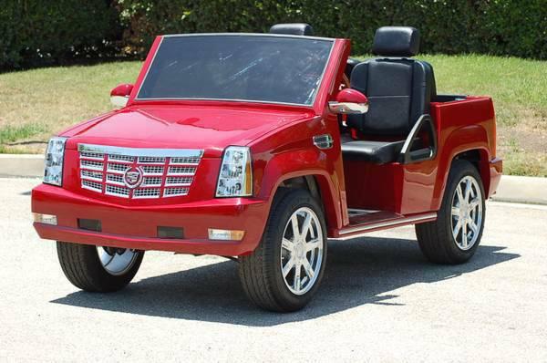 Escalade Golf Cart | Cadillac Escalade Golf Car | Escalade Cart on golf cart dash kits, golf cart canopies, golf cart hoods, golf cart hot dog stand, golf cart shelves, golf cart rims, golf cart gas tanks, golf cart smoker, golf cart bumpers, golf cart fans, golf cart flag mounts, golf cart decals and graphics, golf cart sun shades, golf cart handles, golf cart stripe kits, golf cart hard tops, golf cart dashboard, golf cart lift kits, golf cart mag wheels, golf cart cowls,