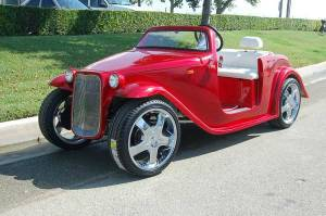 California Roadster Red side view
