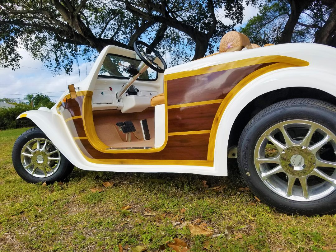 California Roadster White Custom Woody