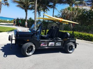Moke Black with Surfboards and Custom Rims