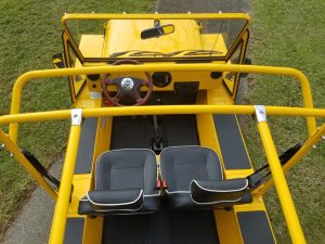 Moke Yellow Custom Seats top view