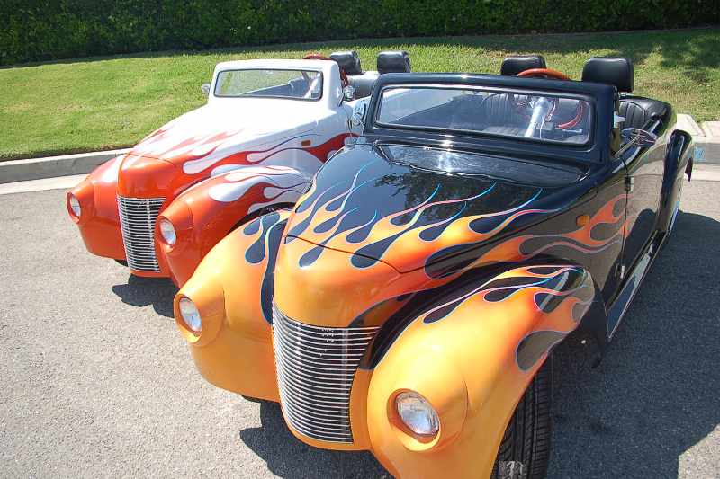 39 Roadster custom flames