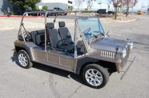 Moke Silver black seats