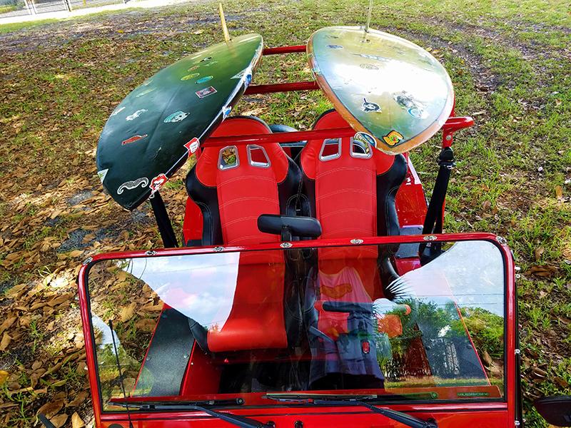 custom seats for moke golf car