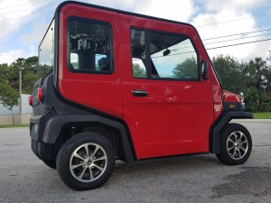 red revolution golf car