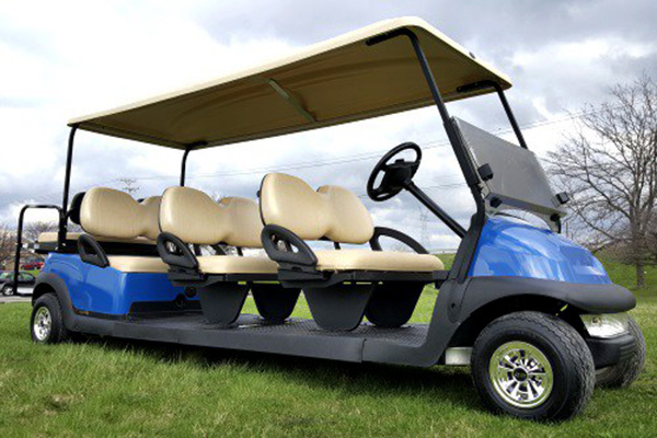revolution golf cart, evolution golf car, evolution limo golf cart