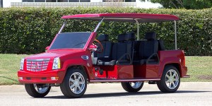cadillac escalade limo golf car, cadillac escalade limo golf cart