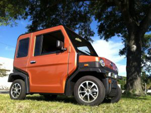 revolution golf car in orange