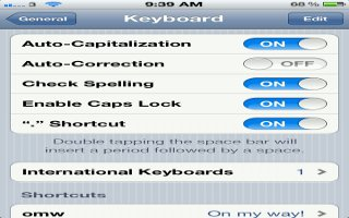 How To Auto-Correct And Spell Check On iPhone 5
