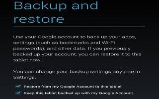 How To Change Backup And Reset Options On Nexus 7