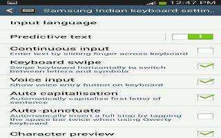 How To Use Samsung Keyboard Settings On Samsung Galaxy S4