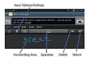 How To Use Handwriting Feature - Samsung Galaxy Tab 3