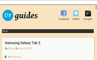 How To Use Internet - Samsung Galaxy Tab 3